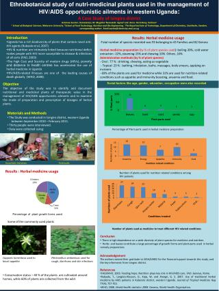 Ethnobotanical study of nutri-medicinal plants used in the management of HIV