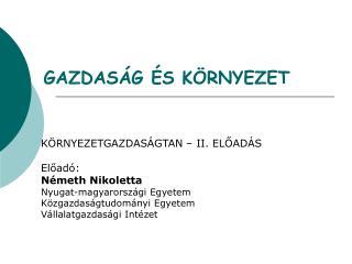 GAZDAS G  S K RNYEZET