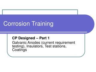 Corrosion Training