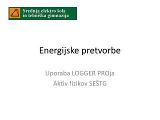 Energijske pretvorbe