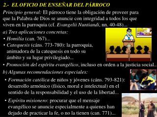 2.-  EL OFICIO DE ENSE AR DEL P RROCO