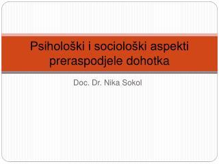 Psiholo ki i sociolo ki aspekti preraspodjele dohotka