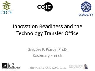 Innovation Readiness and the Technology Transfer Office