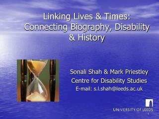 Linking Lives  Times: Connecting Biography, Disability  History