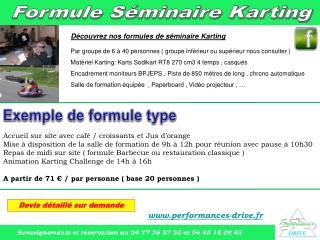 D couvrez nos formules de s minaire Karting  Par groupe de 6   40 personnes  groupe inf rieur ou sup rieur nous consulte