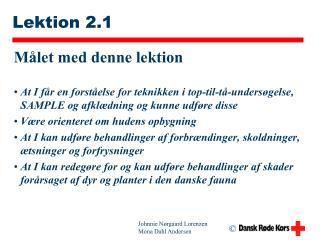 Lektion 2.1