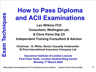 how to pass diploma   and acii examinations