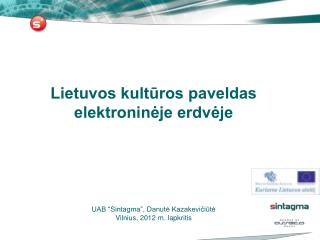 Lietuvos kulturos paveldas elektronineje erdveje