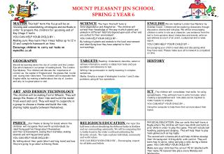 MOUNT PLEASANT JIN SCHOOL SPRING 2 YEAR 6