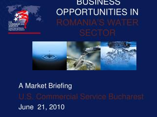 BUSINESS OPPORTUNITIES IN  ROMANIA S WATER SECTOR