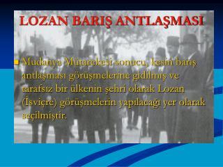 LOZAN BARIS ANTLASMASI