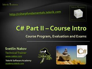 C Part II   Course Intro