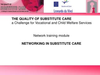 THE QUALITY OF SUBSTITUTE CARE a Challenge for Vocational and Child Welfare Services