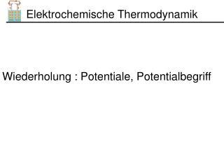 Elektrochemische Thermodynamik