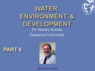 Water, Environment,  development