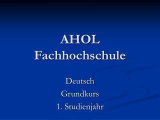 AHOL Fachhochschule