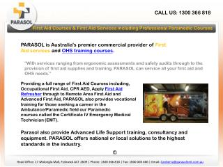 first aid courses & first aid services