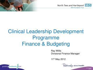 Clinical Leadership Development Programme  Finance  Budgeting