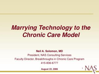 Marrying Technology to the Chronic Care Model