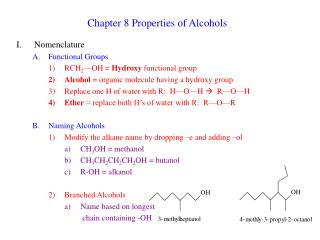 chapter 8 properties of alcohols