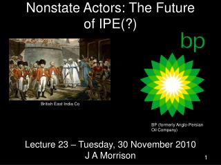 Nonstate Actors: The Future of IPE