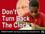 Don t Turn Back The Clock