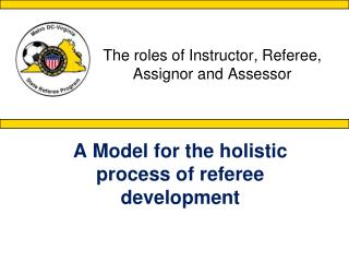 The roles of Instructor, Referee, Assignor and Assessor