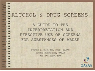 alcohol  drug screens