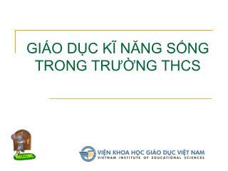 GI O DC KI NANG SNG TRONG TRUNG THCS