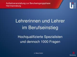 Auftaktveranstaltung zur Berufseingangsphase Herrmannsburg