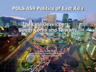 POLS 459 Politics of East Asia