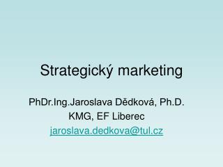 Strategick  marketing