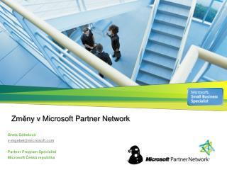 Zmeny v Microsoft Partner Network