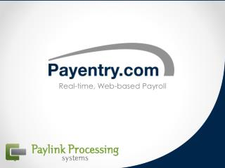 Real-time, Web-based Payroll