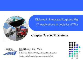 Diploma in Integrated Logistics Mgt I.T. Applications in Logistics ITAL
