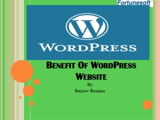 Benefit Of wordPress