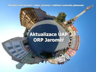 Aktualizace  AP  ORP Jaromer