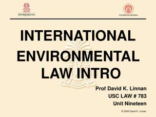international environmental law intro