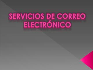 Servicios de Correo Electr nico
