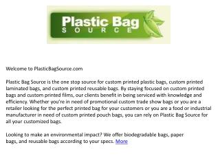 Custom Plastic Shopping Bags - Plasticbagsource.com