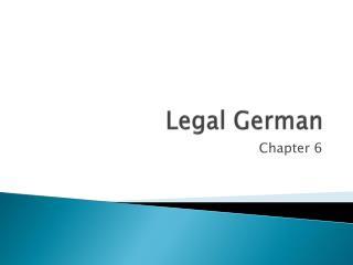 Legal German
