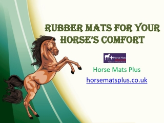 Rubber Mats For Your Horse