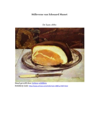 Stillevens van Edouard Manet -- Artisoo