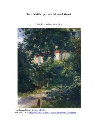 Tuin Schilderijen van Edouard Manet -- Artisoo
