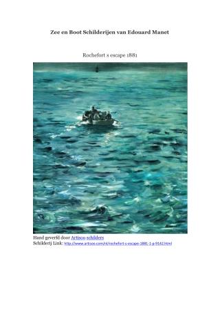 Zee en Boot Schilderijen van Edouard Manet -- Artisoo