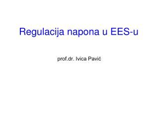 Regulacija napona u EES-u