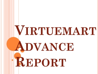 VirtueMart Advance Report