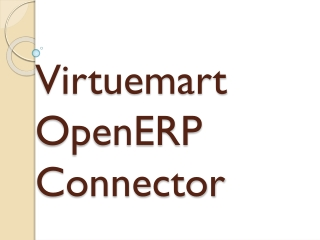 VirtueMart OpenERP Connector