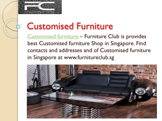 Latest Italian Sofa and Customised Furniture Store in Singap