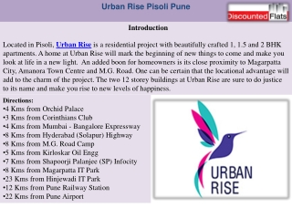 Urban Rise - New Residential Project in Pisoli Pune call 902